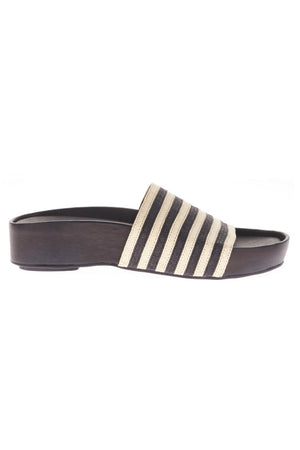 SOL SANA MONICA FLATFORM STRIPE SANDALS SLIDES | PIPE AND ROW
