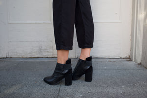 SOL SANA MONK ANKLE BOOT BLACK SHOES | PIPE AND ROW SEATTLE BOUTIQUE