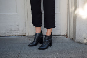 SOL SANA MONK ANKLE BOOT BLACK SHOES | PIPE AND ROW BOUTIQUE
