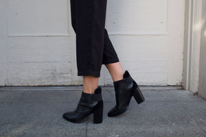 SOL SANA MONK ANKLE BOOT BLACK LEATHER | PIPE AND ROW SEATTLE BOUTIQUE