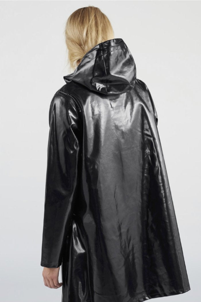 patent black rain jacket stutterheim moseback opal | pipe and row seattle