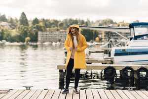 MOSEBACKE RAIN JACKET YELLOW