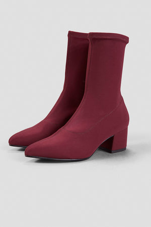 Mya stretchy ankle boot deep wine red Vagabond | Pipe and Row