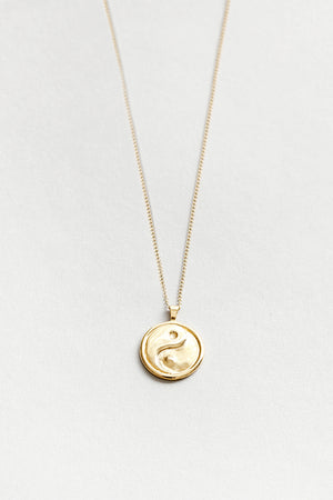 Wolf Circus Gravity necklace with Yin Yang box chain gold | Pipe and Row