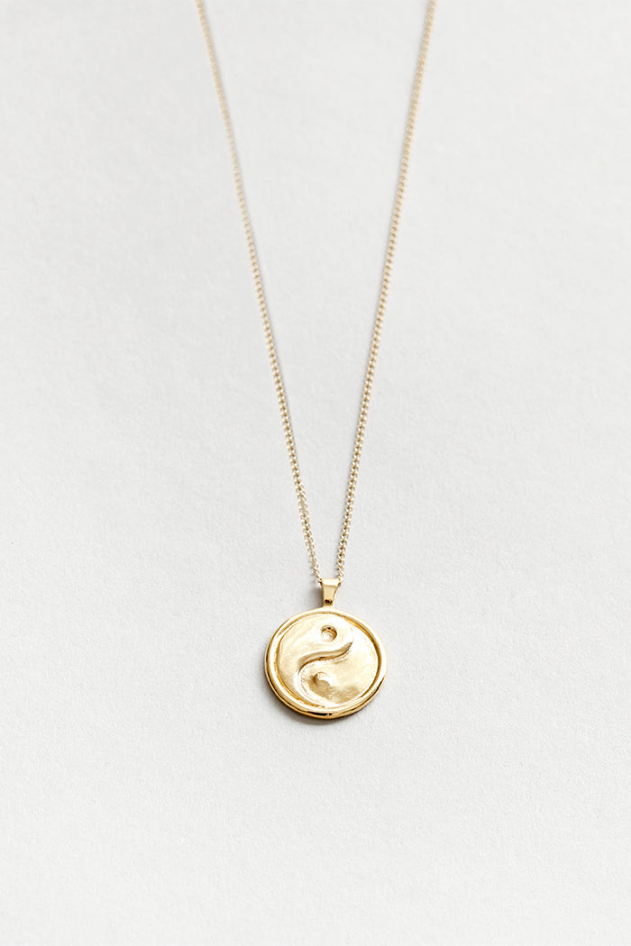 Wolf Circus Gravity necklace with Yin Yang box chain sterling silver | Pipe and Row