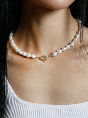 Wolf Circus Lola pearl necklace with paisley toggle | pipe and row