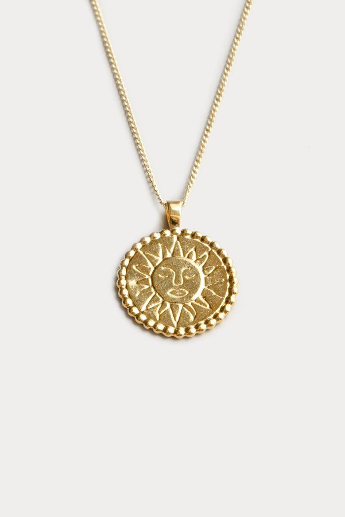 Wolf Circus Lumen gold sun pendant necklace | pipe and row