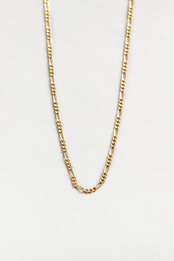 "Wolf Circus Mila necklace 20"" Figaro chain gold 