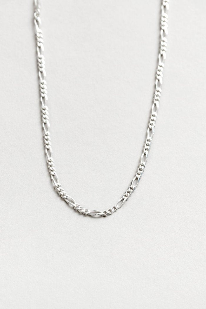 "Wolf Circus Mila necklace 20"" Figaro chain sterling silver 