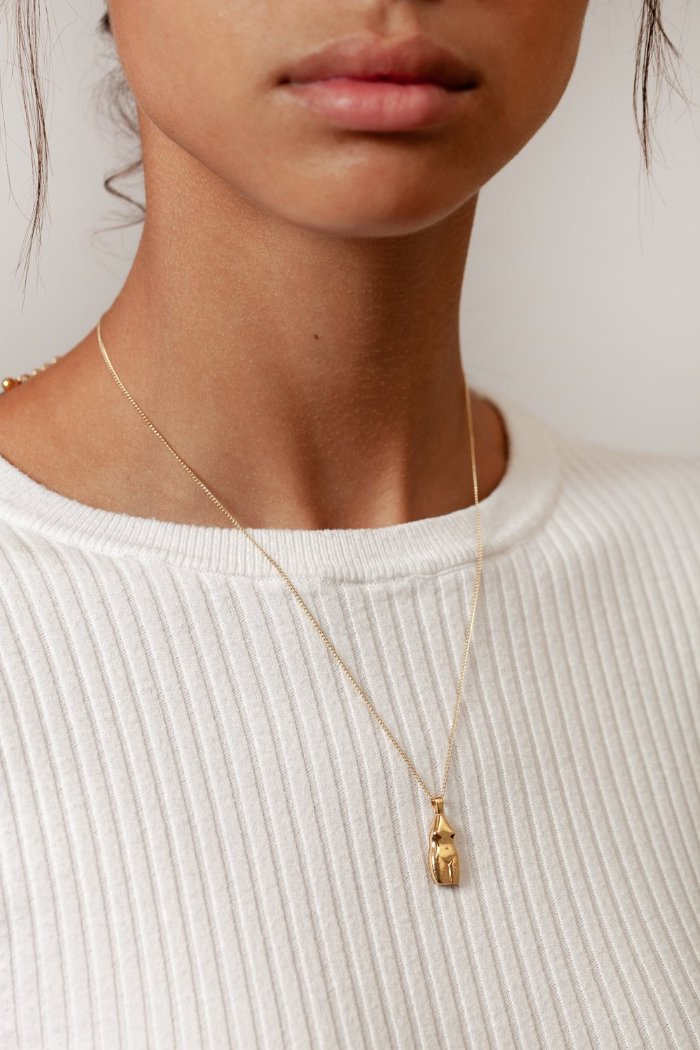 Wolf Circus introduces the Woman Vase Necklace gold | pipe and row