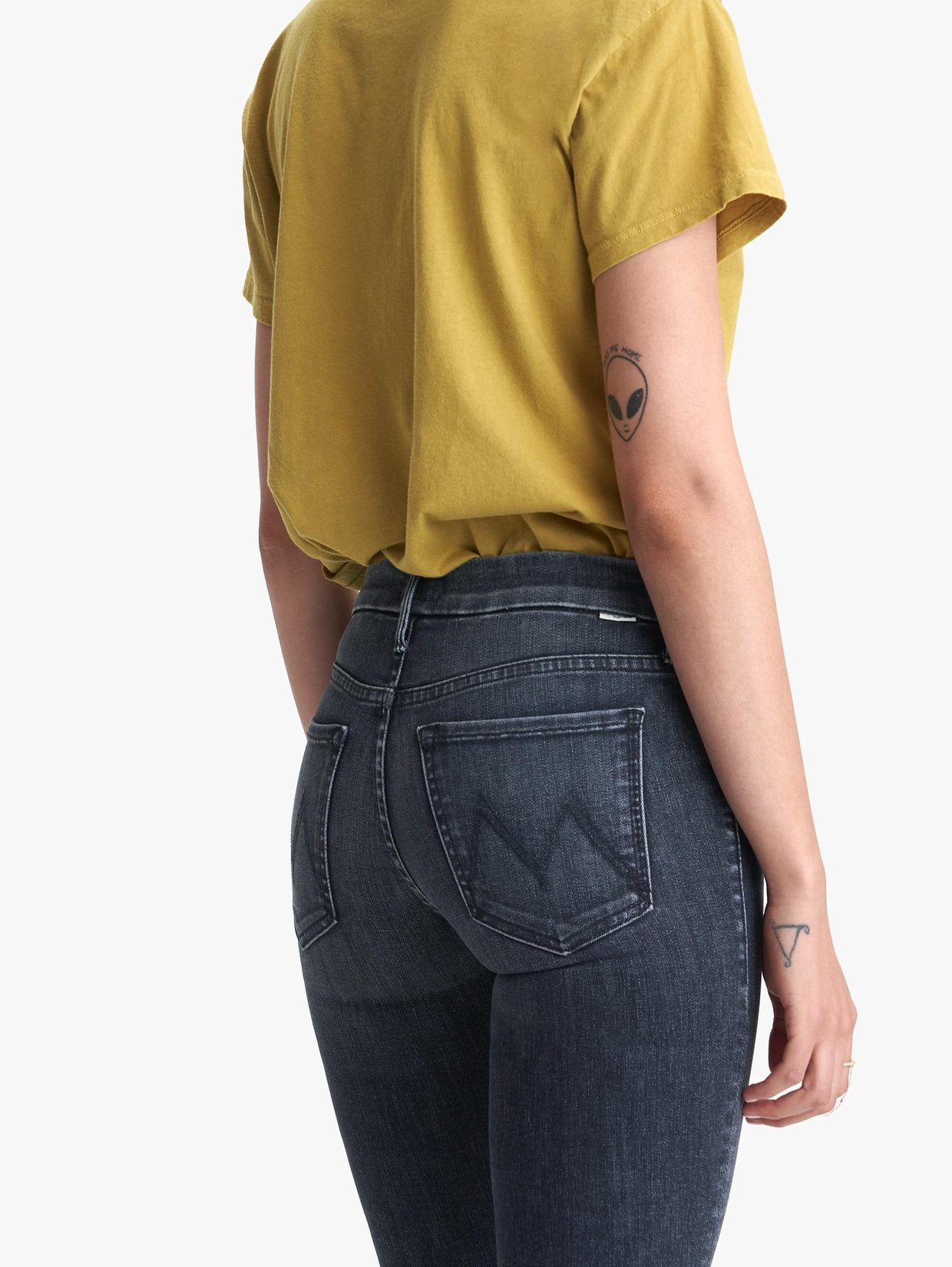 Mother denim skinny Looker washed black nightowl crowd favorite | Pipe and Row