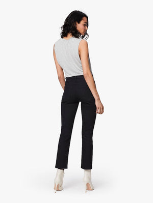 Mother Denim Midrise Dazzler ankle fray black Not Guilty | PIPE AND ROW