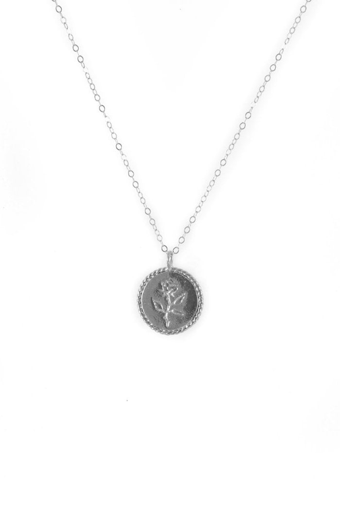 ROSE COIN NECKLACE SILVER