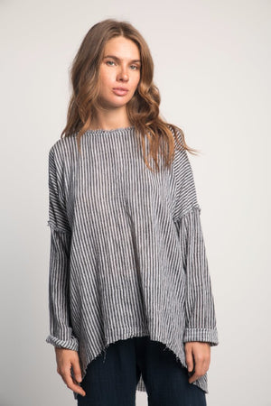 Rue Stiic Nena tunic stripe linen | Pipe and Row Seattle Boutique