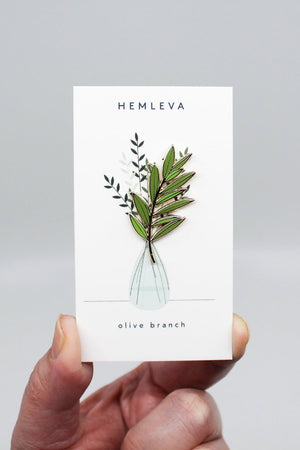 Hemleva Olive Branch pin | PIPE AND ROW