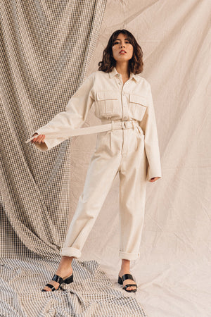 Pipe and Row Agolde Tatum Denim Jumpsuit Paper Spring 2020 2