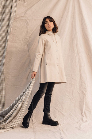 Stutterheim Rain Jacket Mosebacke Light Sand Pipe and Row Spring 2020
