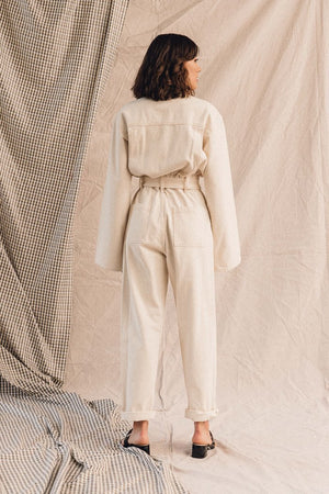 Pipe and Row Agolde Tatum Denim Jumpsuit Paper Spring 2020 4