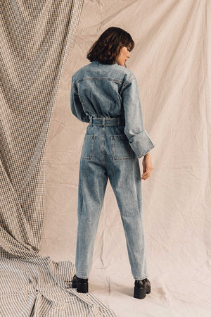 Pipe and Row Agolde Tatum Denim Jumpsuit Lark Spring 2020 2