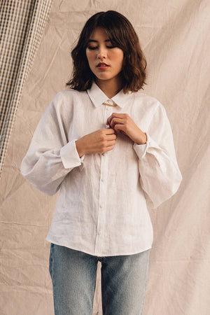 Pipe and Row Just Female Linneda Shirt White Linen Spring 2020 2