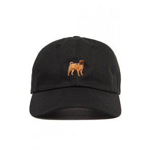 DOG LIMITED PUG EMBROIDERED DAD HAT BLACK | PIPE AND ROW dogs