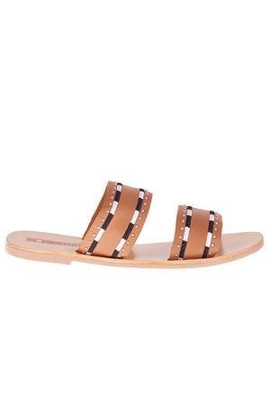 Pablo Embroidered Sandals Tan Sol Sana | Pipe and Row Boutique Fremont