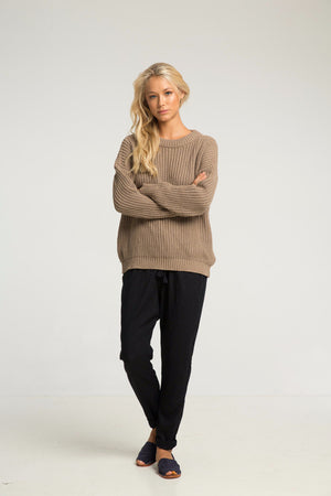 RUE STIIC PACAR SWEATER SAND | PIPE AND ROW