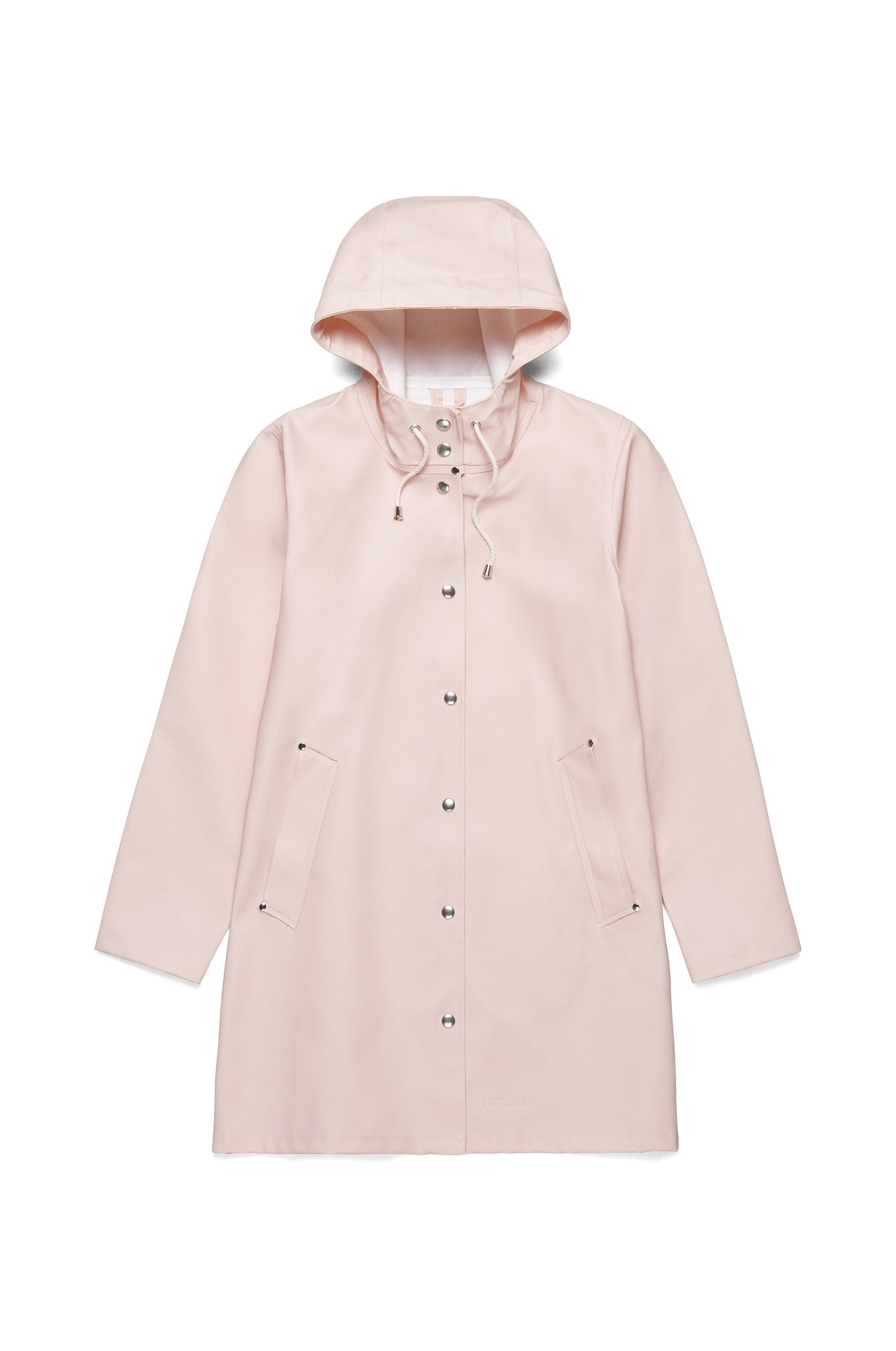 Stutterheim mosebacke pale pink rain jacket womens | pipe and row