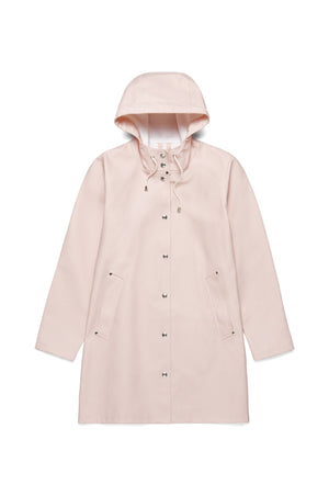 Stutterheim mosebacke pastel pink rain jacket womens | pipe and row