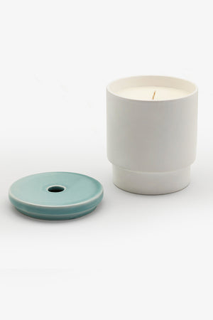 Night Space Pale Blue lemon balm, clove, eucalyptus candle | PIPE AND ROW