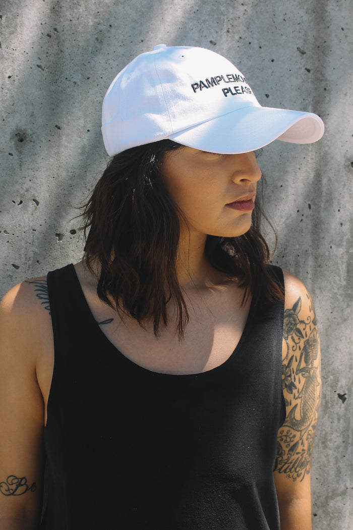 addda8f2 Intentionally Blank la croix pamplemousse please embroidered white hat |  Pipe and row