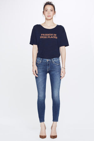 "Mother Denim High Waisted Looker Crop in ""pardon my french"" PIPE AND ROW cropped skinnies"