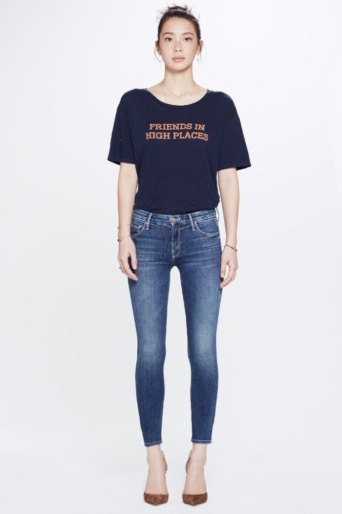 "Mother Denim High Waisted Looker Crop in ""pardon my french"" PIPE AND ROW"
