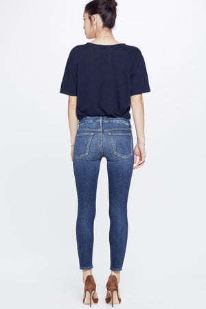 "Mother Denim High Waisted Looker Crop in ""pardon my french"" PIPE AND ROW  stretch skinnies"