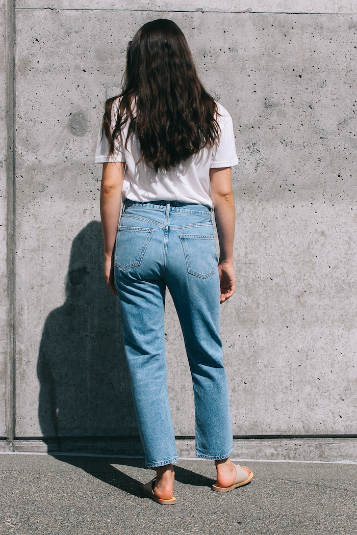 Agolde Parker easy straight boyfriend jean blur | pipe and row Seattle