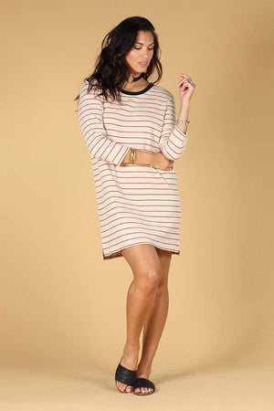 Patsy Stripe tee dress Knot sisters | pipe and row boutique
