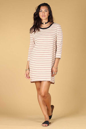 Patsy Stripe l/s tee dress Knot sisters | pipe and row