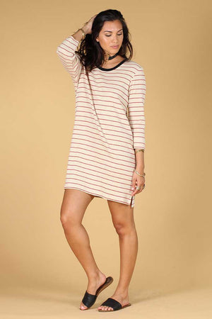 Patsy Stripe t-shirt dress Knot sisters | pipe and row