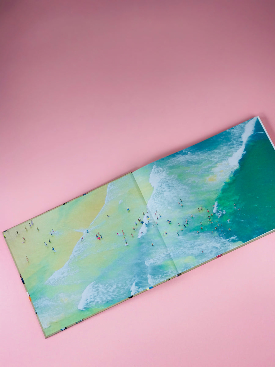 Beaches vibrant coffee table book by Gray Malin | Pipe and Row