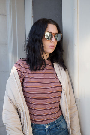 QUAY JOY RIDE SUNGLASSES TAN | PIPE AND ROW BOUTIQUE FREMONT SEATTLE