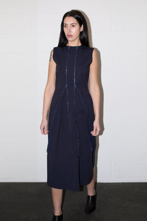 POPPYSEED ZIPPER DRESS NAVY | PIPE AND ROW SEATTLE BOUTIQUE