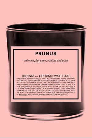 Prunus candle boy smells | pipe and row