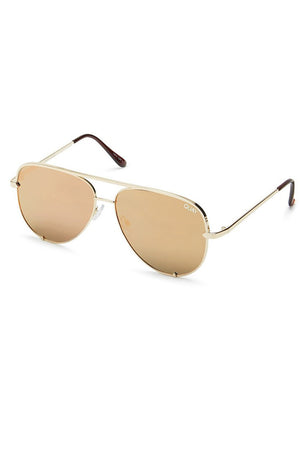 mini high key aviator sunnies gold quayxdesi desi perkins | pipe and row