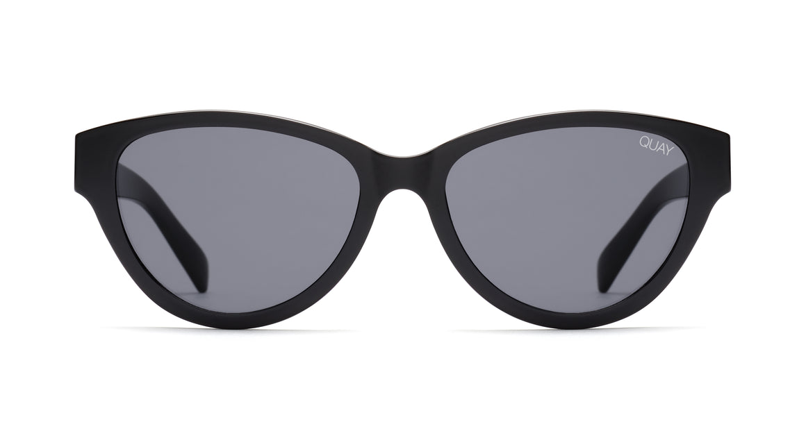 rizzo cat eye sunglasses matte black quay australia | pipe and row