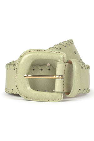 Paloma Wool Rapunzel leather belt light aquamarine green | pipe and row boutique