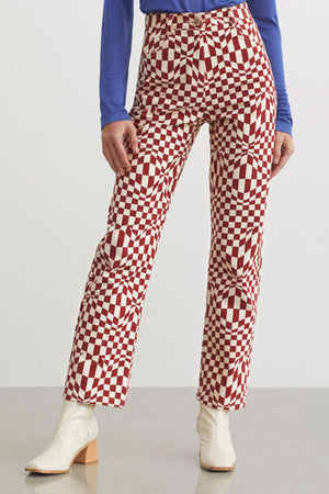 Paloma Wool Realmonte pants High waist twill Psychedelic | Pipe and row