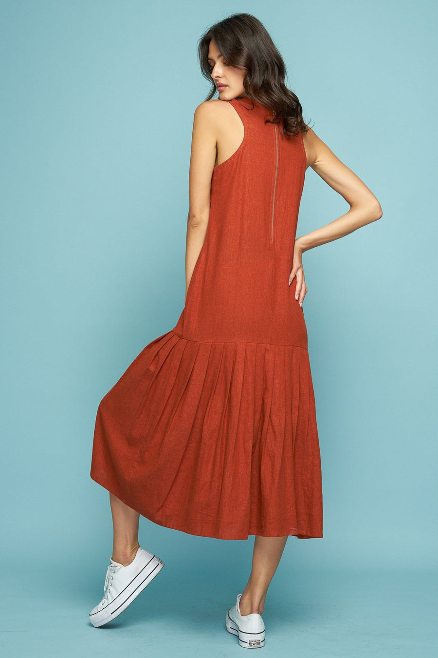 MONTANA PLEAT DRESS