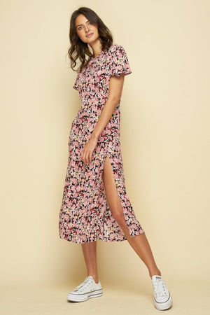 Rue Stiic Paso midi dress Monet Floral print rue stiic | PIPE AND ROW boutique