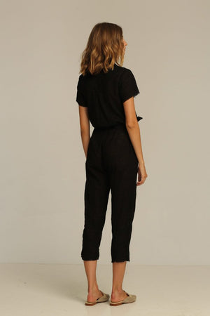 Rue Stiic Hilton Jumpsuit cotton black | PIPE AND ROW boutique seattle