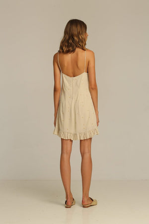 Rue Stiic Carter Mini Dress slip dress pipe and row blush